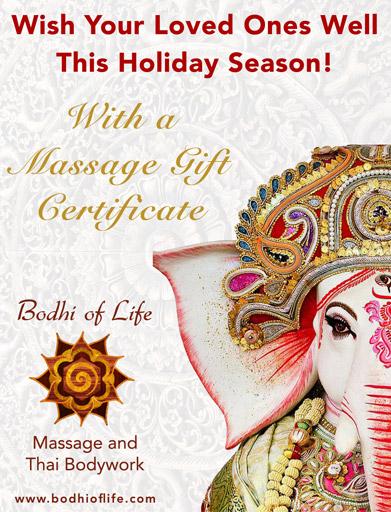 Holiday Massage Gift Certificates